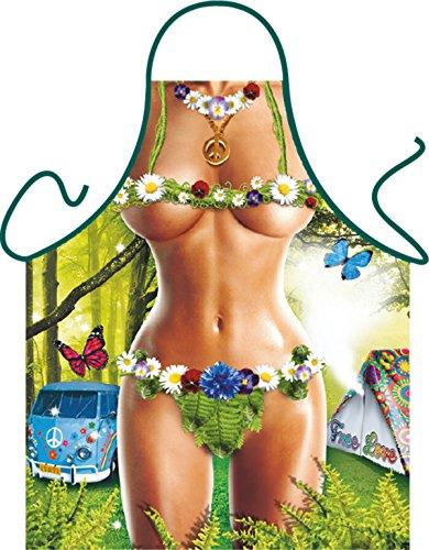 Tini - Shirts Sexy Grillschürze ! Top Scherzartikel zum Geburtstag, für Partys, Karneval,…: Hippie Girl + Gratis Urkunde ()