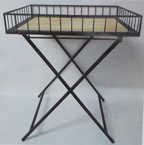 LIFE DECO Table Basse D' APPOINT DESSERTE Industrielle en Bois ET Fer Forge GUERIDON Plateau Cuisine OU Salon