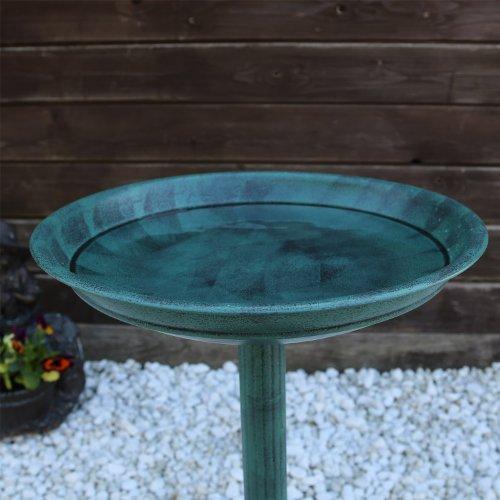 Vogeltränke VGT1 Vogelbad Vogel Tränke Bad mit Fuß zum bepflanzen antike Schale - 3