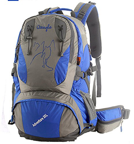 Cinny männliche und weibliche Liebhaber zu Fuß auf Fuß wasserdichte outdoor Bergsteigen Tasche Freizeit Sport-35L Blue