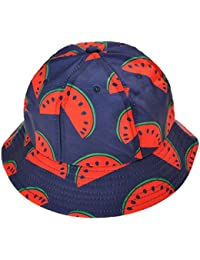 ZLYC Unisex Funky Fruit Print Bucket Hat Fishmen Outdoor Cap c7dc01b33375
