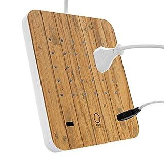 EGG ELECTRONICS PowerStation, innovative Ladestation, lädt bis zu 15 Eurostecker Typ-C + 2 USB-Ports gleichzeitig, Steckdosenleiste, Mehrfachsteckdose, Überspannungsschutz, 1.5m Kabel, WOODFLOOR (B0749RBPQF) | Amazon Products