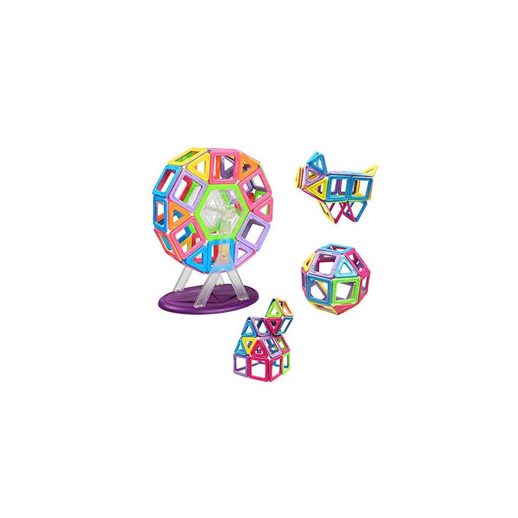 brillance des couleurs arrive vraie affaire Innoo Tech Bloc de Construction Magnétique | Jeux Construction Aimanté XXL  Grande Taille (77 Pièces) | Jouet de Construction Educatif et Créatif | ...