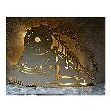 Schlummerlicht24 Led Deko Wandbilder Nachtlicht mit Name nach Wunsch