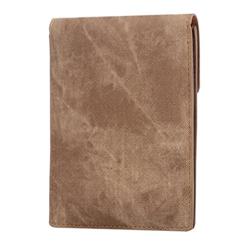 Wkae Case Cover Multi-Funktions-Jeans-Tuch Paar Universalschiene Vertikal-Schlag-Leder-Schulter-Beutel mit Kartenslots für iPhone 6 Plus &6s Plus / Samsung Galaxy S7 / LG G5 / Huawei P8 ( Color : Apri Apricot