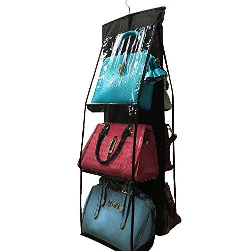 Hängende Handtasche Organizer (Hängeorganizer Wand Hängenden COLORFUL 6 Pocket Hanging Handtasche Handtasche Tasche Tidy Organizer Lagerung Kleiderschrank Kleiderbügel (BK))