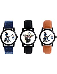 A R Sales Pack Of 3 Analog Watch For Mens And Boys 2-3-6