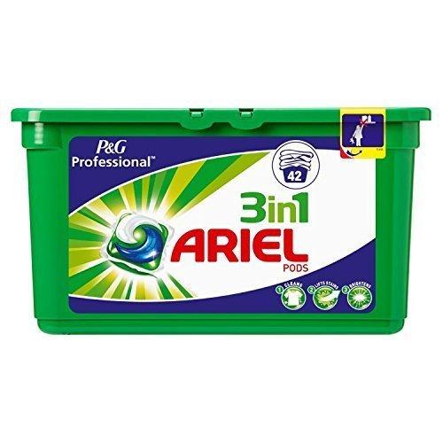 Ariel 3in 1Marmeladengläser für Kugelschreiber Standard Waschen Kapseln Liquitabs, 42Wäschen