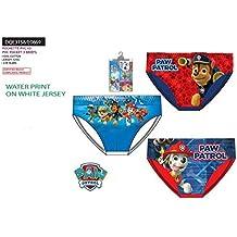 Pack de 6 slips multicolor (3 modelos diferentes) diseño Patrulla Canina (Paw Patrol)