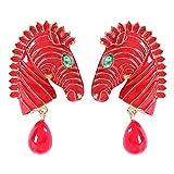 YA-Uzeun Boucles d'oreilles Rondes géométriques en Forme de zèbre avec Perles et...