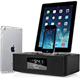Philips Lightning Connector iPhone 6S / 6S Plus / iPhone 6 5 5S 5C / iPad Air / iPad Air 2/ iPad 4 / iPad Mini 2 3 Retina Speaker Dual Dock Docking Station Cradle Alarm Clock Radio Touch Nano 5 7 System with 30 Pin Connector 4 4S 3 iPad 2 3 and USB Fast Charge Port for Mobile/Tablet