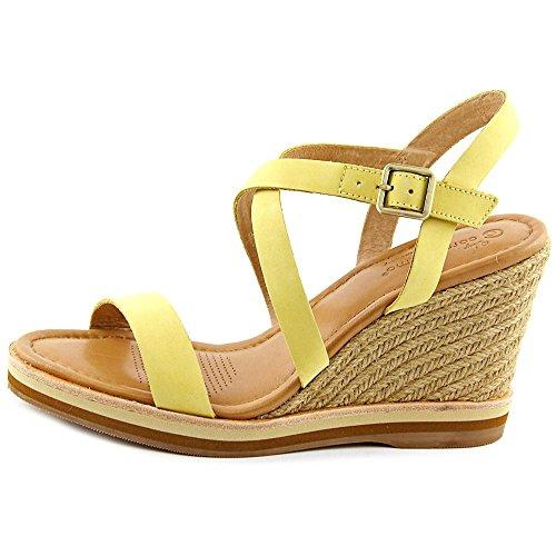 Corso Como Gladis Femmes Cuir Sandales Compensés Light Yellow
