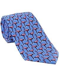 Light Blue Flamingo Silk Tie