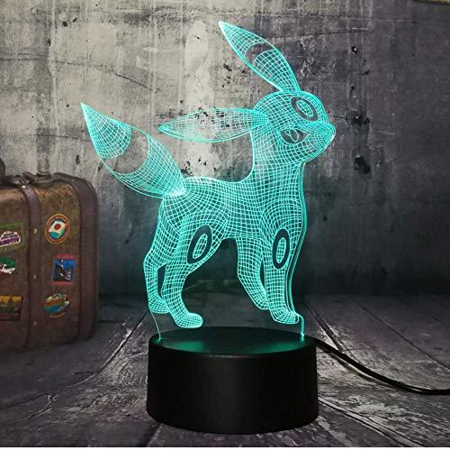 Neuheit Schöne Pokemon Go Spiel 3D Beautifuf Nette 3D LED Nachtlicht 7 Farbe Schreibtischlampe Kawaii Kinder Spielzeug Weihnachtsgeschenk
