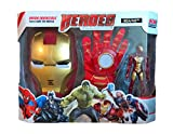 RIANZ Avengers 3 in 1 Gift-set 1 Glove + 1 Mask + 1 Action Figure (IRON MAN)