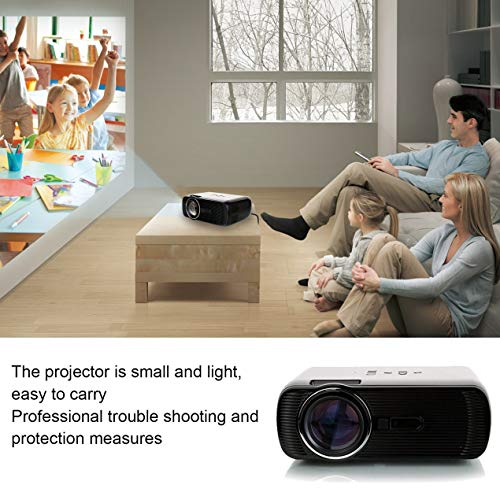 ideo Projector  3D Multimedia Projector Support HDMI VGA USB AV SD Connected Laptop iPhone iPad Smartphone TV with Remote Control  for Home Theater
