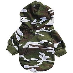 para el suéter de camuflaje para mascotas,RETUROM caliente de la moda del perrito caliente del animal doméstico del perro del camuflaje ropa del suéter con capucha (M)