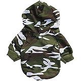 para el suéter de camuflaje para mascotas,RETUROM caliente de la moda del perrito caliente del animal doméstico del perro del camuflaje ropa del suéter con capucha (S)