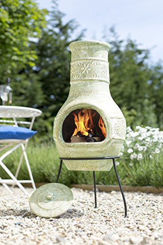 La Hacienda 67047 Star Flower Clay Chimenea, Medium
