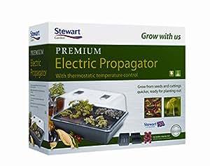 Stewart - Mini-serres chauffantes électriques en matière plastique à contrôle thermostatique pour l'extérieur, 52cm - 2494005