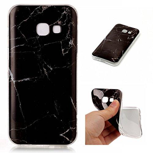 Preisvergleich Produktbild Linvei Samsung Galaxy A5 (Version 2017) -Ultra Dünn TPU Silikon Cover im Marmor Design-A4