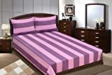 Adithya Delux Purple Double Bed Sheet