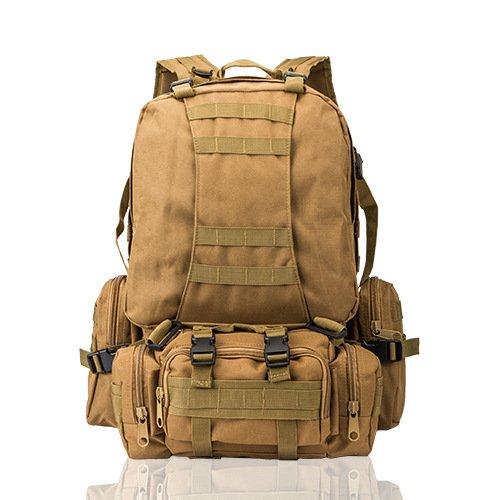 Wandern Rucksäcke, Taschen, Wander-Taschen, Outdoor-Taschen, wasserdicht Rucksack Rucksack Rucksack kombiniert taktische Camouflage bergsteigen Tasche Khaki