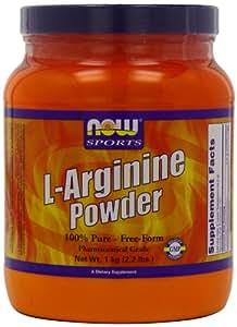 L-arginine pure powder - 1 kg - Now foods