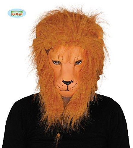 Guirca Löwenmaske mit Haaren Fell Mähne Löwe Maske Karneval Fasching Tier Afrika König