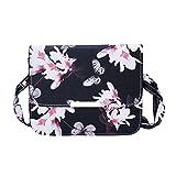 Wenyujh Damen Mädchen Umhängetasche Handtasche Schultertasche mit Kette Blumenmuster