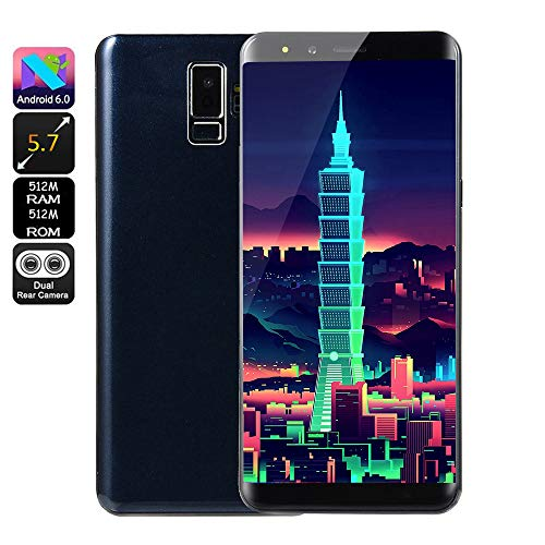 Fulltime E-Gadget Smartphone, Neue Art und Weise 5,7 Zoll Doppel-HD Camera 512 MB RAM + 512 MB ROM,Android 6.0 IPS-VOLLER Schirm GSM/WCDMA-Touch Screen WiFi Bluetooth GPS 2G Anruf-Handy (Blau)