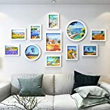 WSDEfr Imbarcazione squisita Portafoto da Parete Photo Wall Decoration Soggiorno Camera da Letto Semplice e Moderno Photo Wall Ideas Hanging Frame Wall Hanging Assembly (Colore: C) (Colore : C)