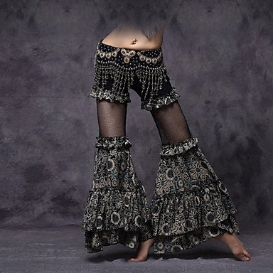 Danza del ventre Pantaloni Per donna Da esibizione Viscosa Drappeggi / Fantasia/ Stampa / Ruches 1