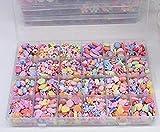 Febbya Kinder Perlen,650 Stück Armband Perlen Ketten Perlen Bunte für Mädchen Kinder Basteln Spielzeug DIY Perlenschmuck mit 10m Schnur Acryl