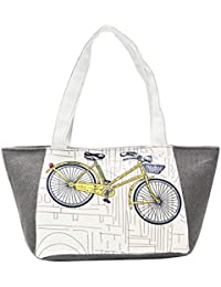 FabSeasons Small Printed Canvas Tote Bag With Zip