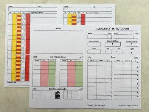 100 St. ORIGINAL 4 -seitige KLAPP-SPIELNOTIZKARTEN Version 2017. Optimiert für das DFBnet ,den Regeländerungen 16/17 und Pokalspiele. *100 Stück*
