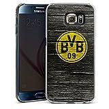 DeinDesign Samsung Galaxy S6 Hülle Case Handyhülle Borussia Dortmund BVB Holzoptik