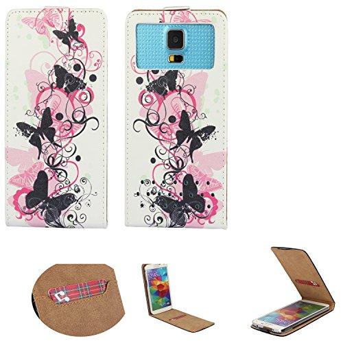 Handy Hülle für - Nokia 230 / Nokia 222 - Flip Tasche mit Kreditkartenfach - Flip Nano XS Schmetterling 2