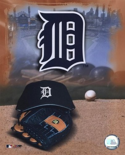 Detroit Tigers - '05 Logo / Cap und Handschuhe Photo Print (20,32 x 25,40 (Tiger Handschuhe Print)