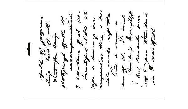 Stencil W-411 Letter vintage 3 ~ UMR Wall Stencil