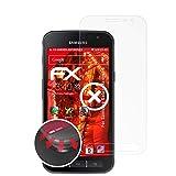 atFolix Schutzfolie passend für Samsung Galaxy Xcover 4 Folie, entspiegelnde & Flexible FX Bildschirmschutzfolie (3X)