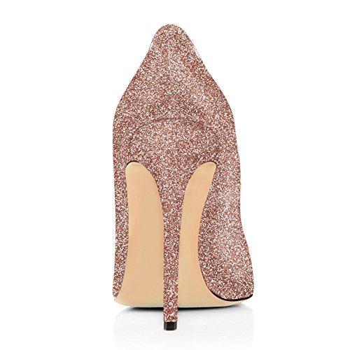 Signore Onlymaker Classico Moderno Sfaccettato Abs Basic Pump Stiletto Rosa Glitter