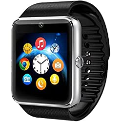 ML GT08 Bluetooth Smart Watch Wristwatch with Camera SIMh with NFC Cell Phone Mate For Android (Full functions) Samsung S5 S6 Note 4 Note 5 HTC Sony LG and iPhone 5 5S 6 6 Plus