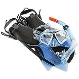 Ultrasport Aqua Speed, Kit Snorkeling per Adulto, Nero/Rosso, 43-44