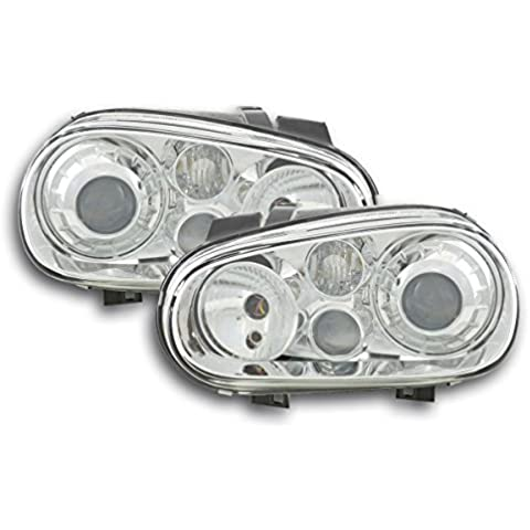FK-Automotive FKFS8117 - Faros delanteros para VW Golf 4 1J 98-03, color cromo