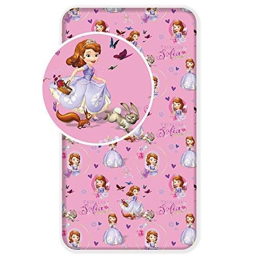 Jerry Fabrics 226136 Sábana Ajustable para Niñas, Algodón, Rosa (Pink), 200x90x25 cm