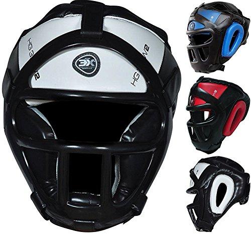 3-x-sport-griglia-testa-guard-bar-casco-kick-boxing-gear-protezione-viso-copricapo-white-m
