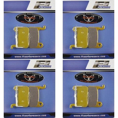 4paires Plaquettes de Frein belage pour Shimano XTR XT Disque Shimano SLX LX Saint Smartphone Zee Deore, de selle de frein BR m985M810M545M555+ + + + + + + +. 2/paquet, Semi métallisé, Kevlar, Céramique Pro, dure fritté KE