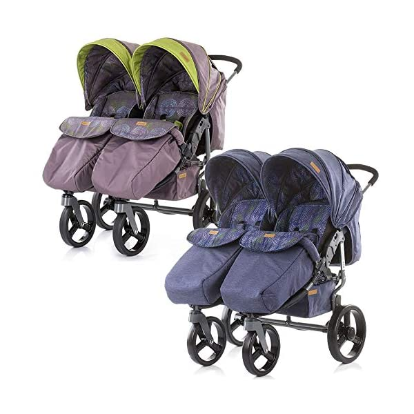 Chipolino Twix Pushchair Brown Chipolino Twin pushchair folds easily with automatic locking From birth, sun canopy with window and pockets Backrest can be adjusted to 5 different sitting and lying positions independently of each other 7