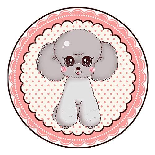 Haustiere Runde Cartoon Sommer Schlafen Hundematte Kühlen Kissen für Vier Jahreszeiten Universal Schlafen Kühlen Teppich Skid Ice Pet Bett Pad,Pink,M -